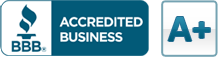 BBB Accredited Business A+ badge