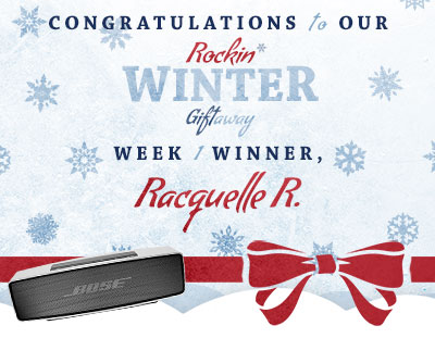 Congratulations to Racquelle R., our week 1 winner!