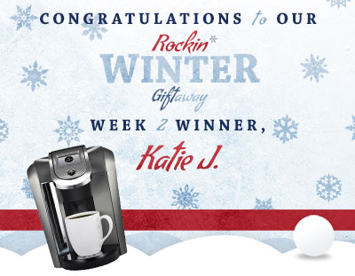 Congratulations to Katie J., our week 2 winner!