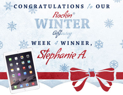 Congratulations to Stephanie A., our week 4 winner!