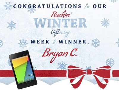 Congratulations to Bryan C., our week 5 winner!