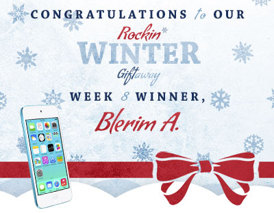 Congratulations to Blerim A., our week 8 winner!